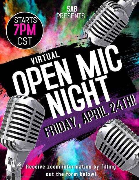 open mic night flyer.