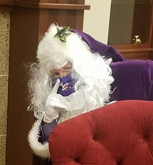 purple santa.