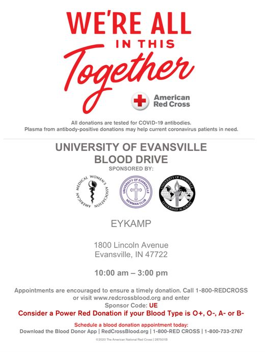 blood drive flyer.