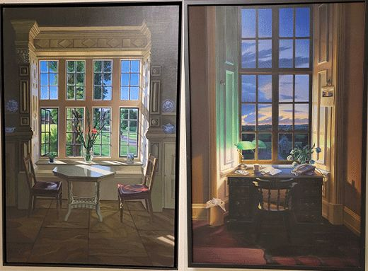 two paintings.