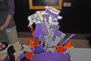 Ace Purple Birthday Cake Topper