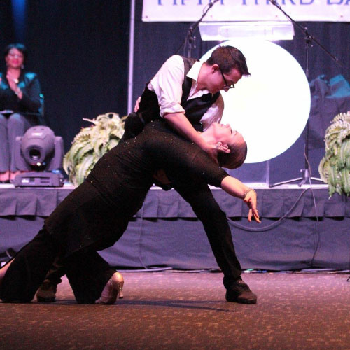 Ballroom Dancers Performing