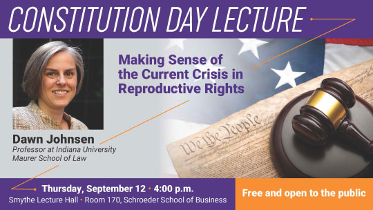 Constitution Day Lecture flyer