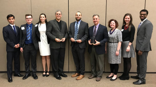 Delta Sigma Pi Students and Award Winners