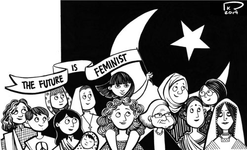 The Future is Feminist cartoon