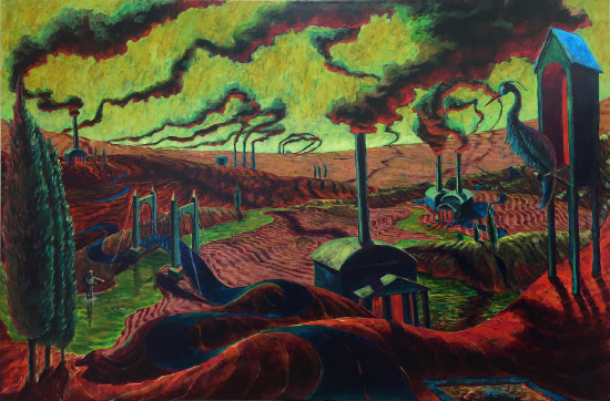 Painting titled Suspension Valley