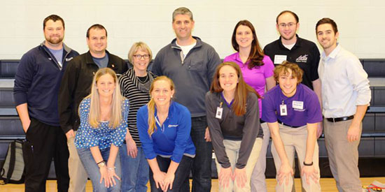 UE Physical Therapy students, alumni, and sports residents help high school athletes prevent injuries