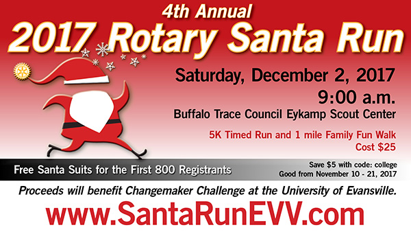 Santa Run Poster. Text appears in article above.