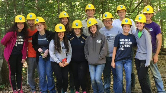 Venturing Crew Group with Yellow Hard Hats