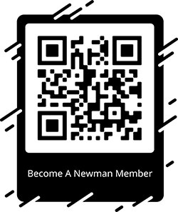Newman Club member sign up QR code.